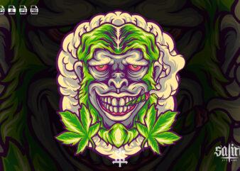 Monkey Marijuana Head