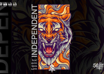 Tiger Head Modern Design