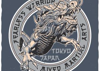 Mixed Martial Arts. Editable t-shirt design.