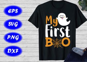 My first Boo shirt Print template, Halloween Boo Shirt, Cute Boo shirt