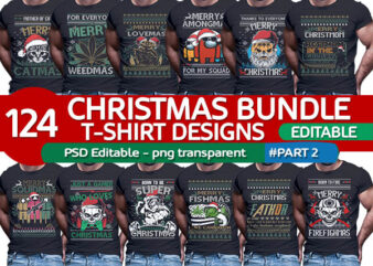 124 ugly christmas Tshirt designs bundle for womens mens and family part2