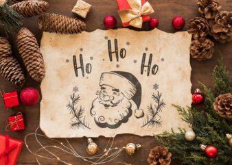 Christmas Santa Claus Ho Ho Ho Gift Diy Crafts Svg Files For Cricut, Silhouette Sublimation Files