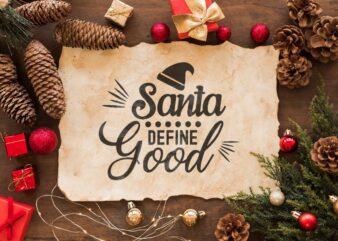 Christmas Gift, Santa Define Good Diy Crafts Svg Files For Cricut, Silhouette Sublimation Files