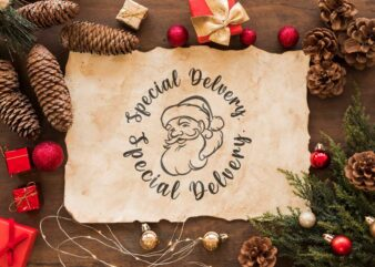 Christmas Santa Claus Gift, Special Delivery Diy Crafts Svg Files For Cricut, Silhouette Sublimation Files