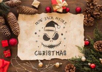 Christmas Gift Idea, How Jack Stole Christmas Diy Crafts Svg Files For Cricut, Silhouette Sublimation Files