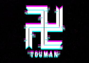touman gang glitch logo