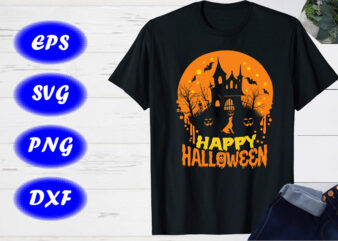 Happy Halloween SVG T-shirt Design Template