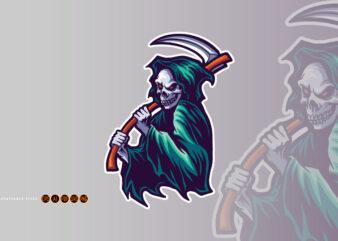 Halloween Reaper Human Skull