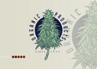 Cannabis Plant Organic Products Logo