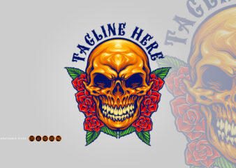 Day Of The Dead Mexican Sugar Skull Illustrations