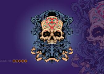 Dia De Los Muertos Skull Frame Ornaments
