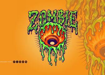 Eye Melt Zombie Illustrations