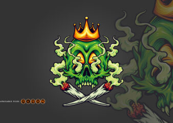King Skull Cannabis Weed Smoking