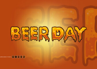 Beer Day Typeface Lettering Texture