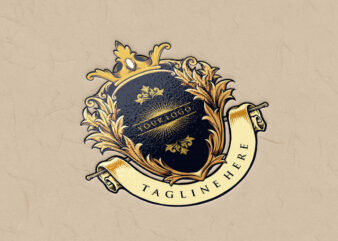 Best King Badge Logo Luxury Company