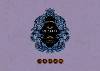 Ellegant Shield Ornaments Emblem