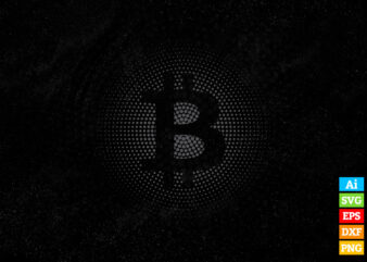 Bitcoin Logo Hodl Crypto vector t-shirt design in ai eps dxf png and BTC Cryptocurrency svg files for cricut
