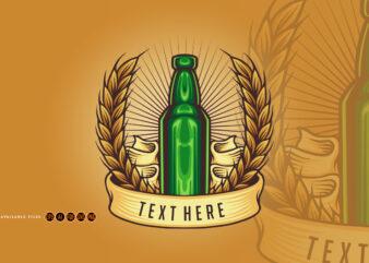 Bottle vintage Badge Illustrations