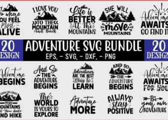 Adventure SVG T shirt design Bundle