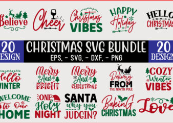 Christmas SVG T shirt design Bundle