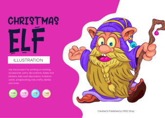 Cartoon Christmas Elf.