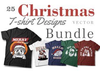 Christmas t-shirt designs vector bundle, Christmas slogans, Christmas greetings, Christmas sublimation bundle