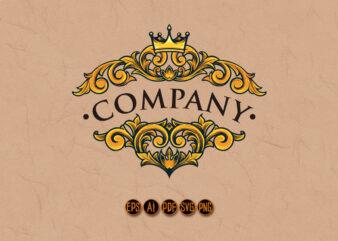 Company Bussines Vintage Crown Ornate