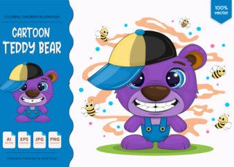 Cute cartoon bear.