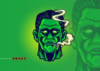 Frankenstein Smoking Cannabis Halloween