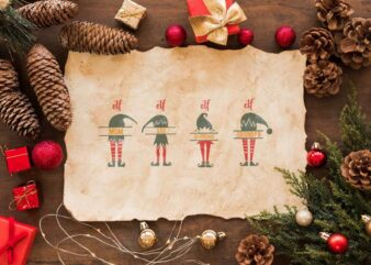 Christmas Elf Family Bundle Gift Diy Crafts Svg Files For Cricut, Silhouette Sublimation Files