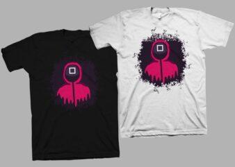 Squid games, squid game svg, game svg, korean drama, kdrama, squid korean drama, trending game, squid games t-shirt design for sale