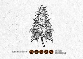 Weed Leaf Cannabis Plant Kush Silhouette