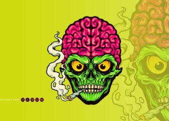 Smoking Skull Weed Cigarette