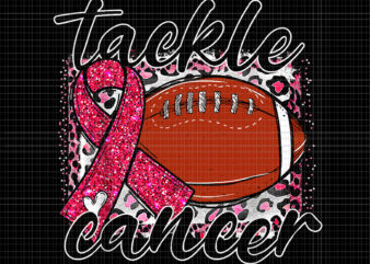 Tackle Breast Cancer Awareness Png, Tackle Cancer Football Png, Pink Ribbon Leopard Football Png, Pink Ribbon Png, Halloween Png, Autumn Png