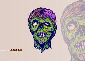 Vintage Zombie Horror Illustrations