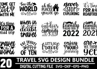 Travel SVG Design Bundle t shirt vector file