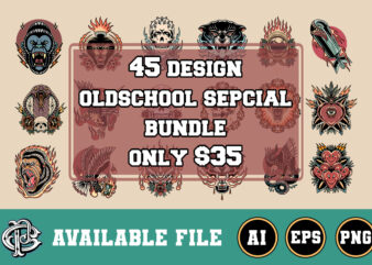 45 oldschool design special bundle only $35