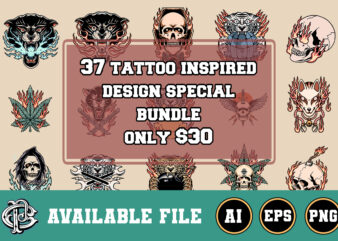37 tattoo inspired design special bundle