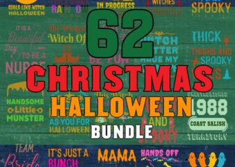 Christmas Halloween svg bundle | christmas sign svg bundle | halloween svg | merry christmas svg | christmas shirt svg | svg for cricut png