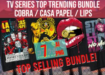 TV Series Top Trending Show Cobra / Casa Papel/ Lips Best Selling