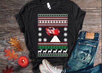 Merry christmas sweater t shirt vector illustration