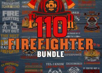 110 Firefighter Bundle SVG Bundle, Silhouette Cut Files,Clipart,SVG Files For Cricut,Dxf,Eps,Png,Cricut,Digital Instant Download