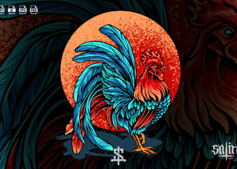 Beautiful Rooster Illustration