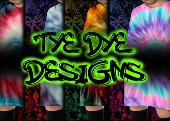 Tye Dye Bundle Part 1 – 14 Tshirt Designs – 90% OFF