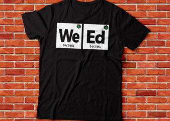 weed periodic table style marijuana t-shirt design bundle