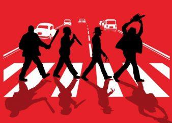 Abbey Road Killer tshirt design vector