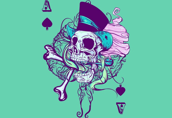 Ace of spades tshirt design for merch by amazon