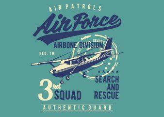 Air Force t shirt vector