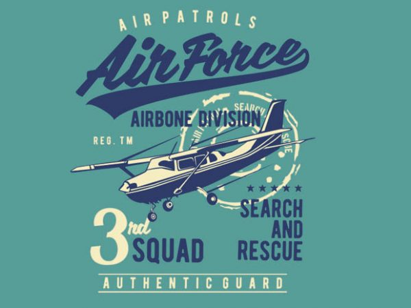 Air Force BTD 1 600x450 - Air Force buy t shirt design