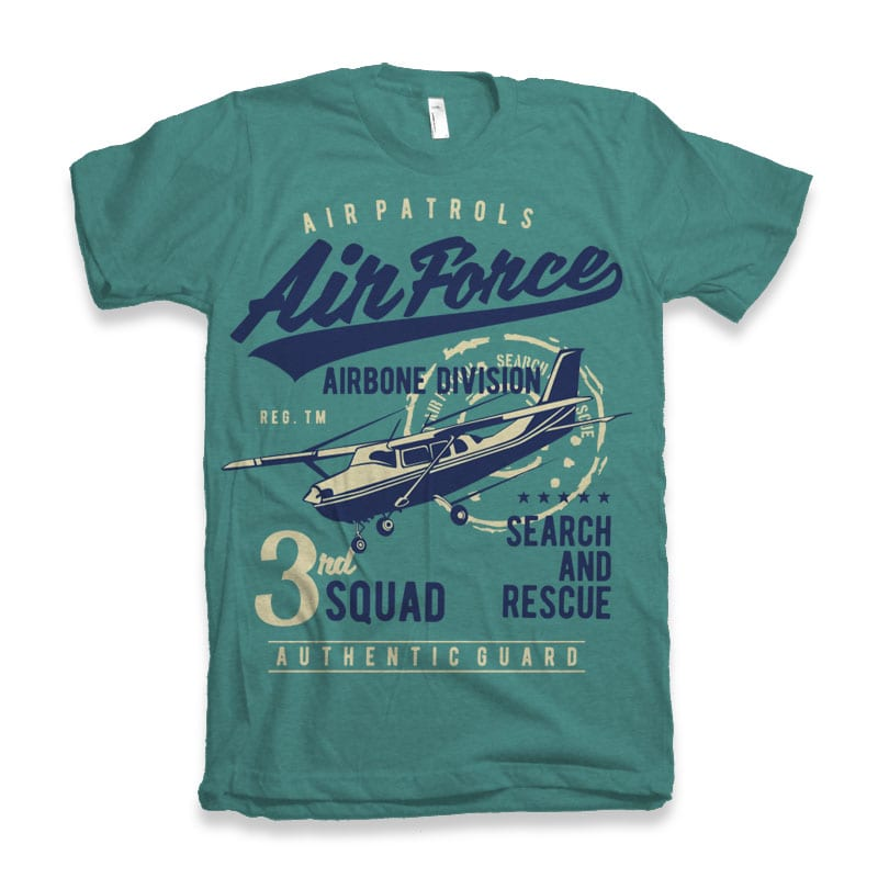 Air Force t-shirt designs for merch by amazon